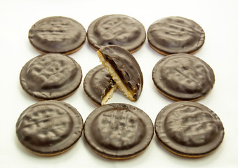 Chocolate jaffa cakes