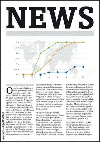 NEWS - Une de journal vectorisée