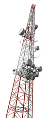 Mobile phone antenna tower isolated with clipping path