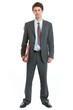 Full length portrait of businessman holding folder