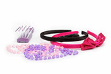 hair accessories on a white background.