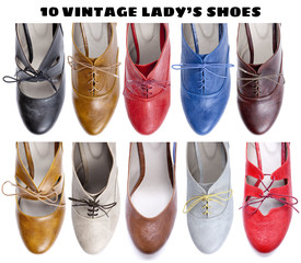 10 beautiful vintage lady's shoes