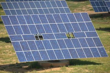 solar panel tracking the sun