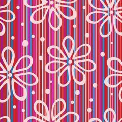 striped colorful flower background
