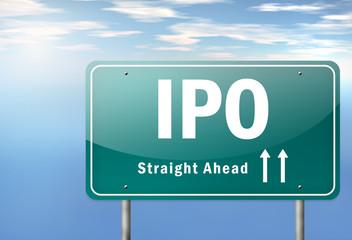 """Highway Signpost """"IPO"""""""