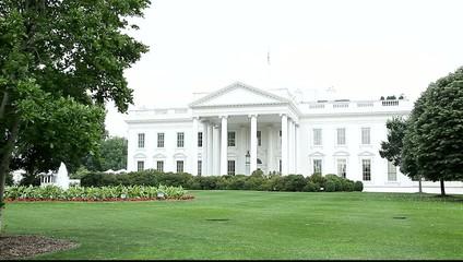 Washington - Weißes Haus mit weißem Himmel