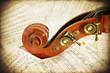 Musical score retro - doublebass
