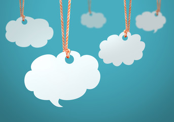 cloud shaped speech bubble