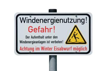 Schild - Windenergienutzung