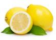 Fresh lemon with leaves - 41672901