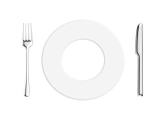 piatto con posate