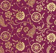 traditional paisley floral pattern , textile , Rajasthan, India