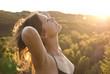 Beautiful girl in the sunlight