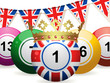 bingo ball jubilee and bunting