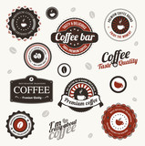Set of  coffee badges and labels