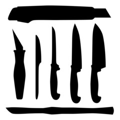 Set of  Knifes, abstract vector illustration