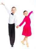 Fototapety Young ballroom dancers