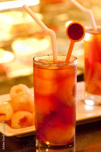 Ice lychee teas