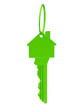 Grüner Haus Schlüssel