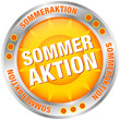 "Button Sonne ""Sommeraktion"" silber/orange"