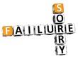 3D Failure Sorry Crossword