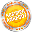 "Button Sonne ""Sommerangebot"" silber/orange"