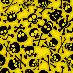 Skull & Crossbones Vectors Seamless Pattern