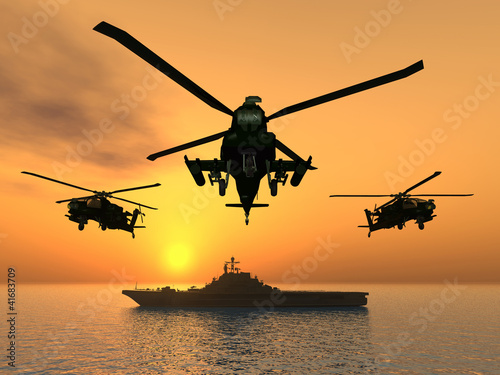 Apache Helicopter - 41683709