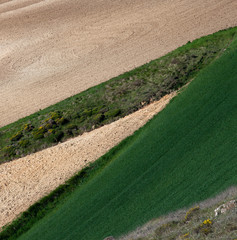 Texture field with arable land