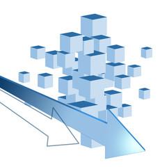 立方体と矢印