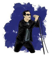 Cartoon - Comic Style Singer