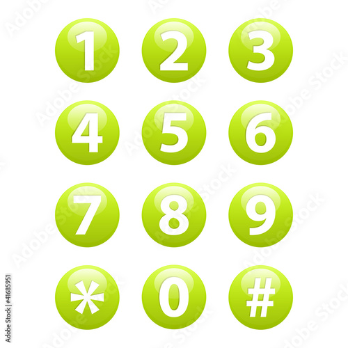 Buttons for web Phone.