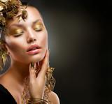 Fototapeta makijaż - moda - Kobieta