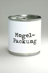 Dose - Mogelpackung