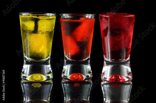 yellow, orange and red shots