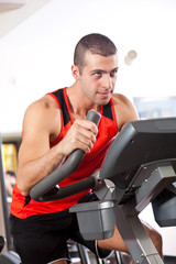 Man training in the gym