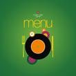 Music Cafe Menu Card Design template