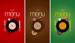 Music Cafe Menu Cards Design template