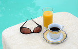 Coffee, Orange Juice and Sunglasses