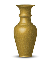 Vector illustration of golden vase