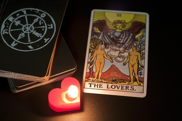 tarot card, the lover