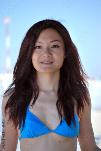 Portrait of Asian girl with bikini2