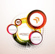 Orange web circle banner