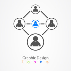 Graphic design social network people.