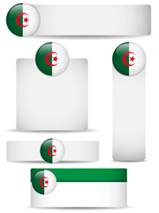 Algeria Country Set of Banners