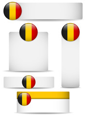 Belgium Country Set of Banners