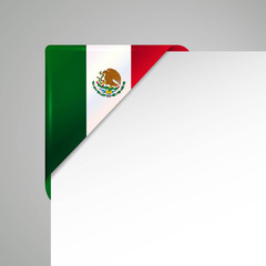 mexico metallic flag corner