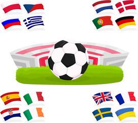 Set of a football accessories B