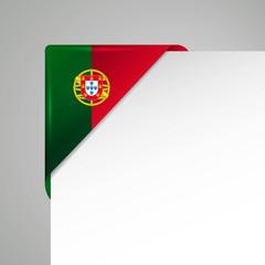 potugal flagge, metallisch glänzend