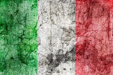 Italienische Flagge (Grunge)